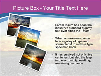 Road and Golden Sky PowerPoint Template - Slide 17
