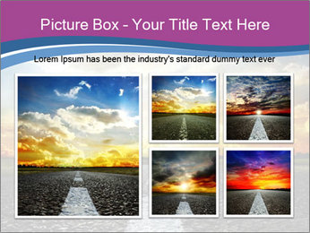 Road and Golden Sky PowerPoint Template - Slide 19