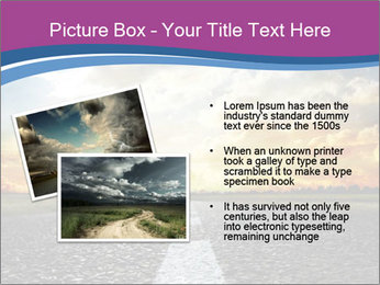 Road and Golden Sky PowerPoint Template - Slide 20