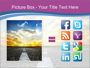 Road and Golden Sky PowerPoint Template - Slide 21