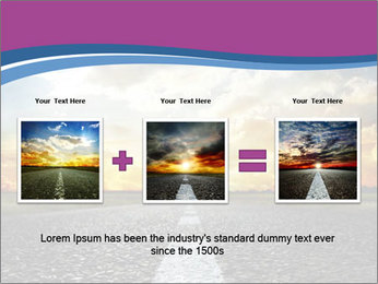 Road and Golden Sky PowerPoint Template - Slide 22