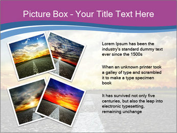 Road and Golden Sky PowerPoint Template - Slide 23