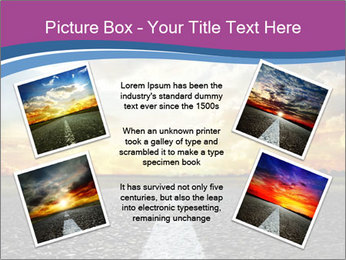 Road and Golden Sky PowerPoint Template - Slide 24