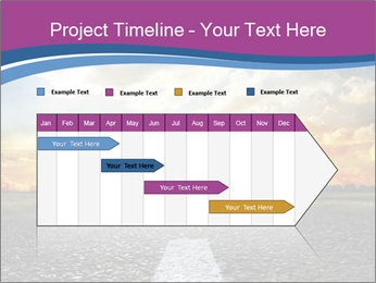 Road and Golden Sky PowerPoint Template - Slide 25