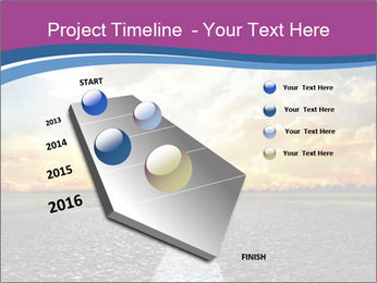 Road and Golden Sky PowerPoint Template - Slide 26