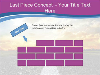 Road and Golden Sky PowerPoint Template - Slide 46