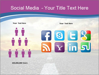 Road and Golden Sky PowerPoint Template - Slide 5
