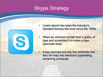 Road and Golden Sky PowerPoint Template - Slide 8