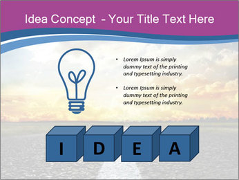 Road and Golden Sky PowerPoint Template - Slide 80