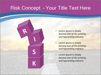 Road and Golden Sky PowerPoint Template - Slide 81