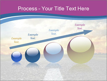 Road and Golden Sky PowerPoint Template - Slide 87