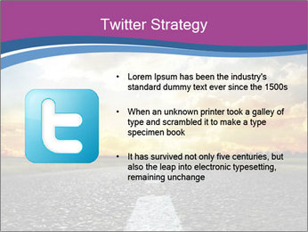Road and Golden Sky PowerPoint Template - Slide 9