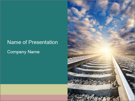 Light and Railway PowerPoint Template