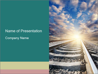 Light and Railway PowerPoint Template - Slide 1