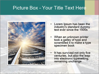Light and Railway PowerPoint Template - Slide 13