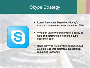 Light and Railway PowerPoint Template - Slide 8