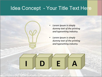 Light and Railway PowerPoint Template - Slide 80