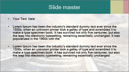 Light and Railway PowerPoint Template - Slide 2