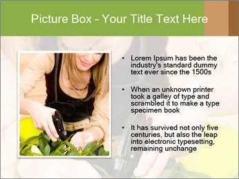 Woman Taking Care About Plants PowerPoint Template - Slide 13