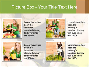 Woman Taking Care About Plants PowerPoint Template - Slide 14