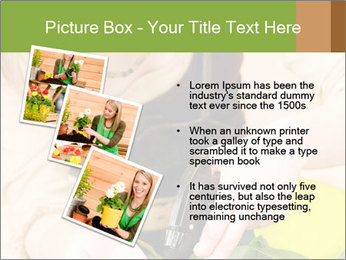 Woman Taking Care About Plants PowerPoint Template - Slide 17