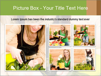 Woman Taking Care About Plants PowerPoint Template - Slide 19