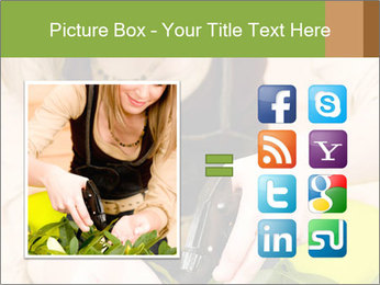 Woman Taking Care About Plants PowerPoint Template - Slide 21