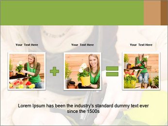 Woman Taking Care About Plants PowerPoint Template - Slide 22