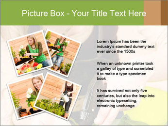 Woman Taking Care About Plants PowerPoint Template - Slide 23