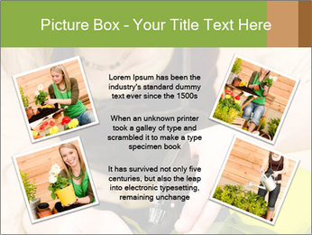 Woman Taking Care About Plants PowerPoint Template - Slide 24