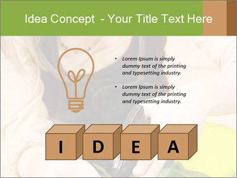 Woman Taking Care About Plants PowerPoint Template - Slide 80