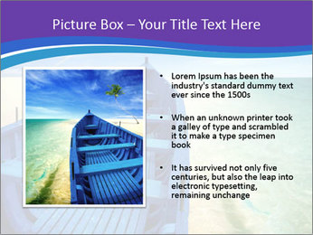 Rural Blue Boat PowerPoint Template - Slide 13