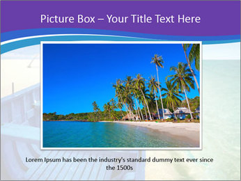 Rural Blue Boat PowerPoint Template - Slide 16