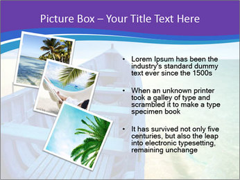 Rural Blue Boat PowerPoint Template - Slide 17