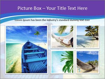 Rural Blue Boat PowerPoint Templates - Slide 19