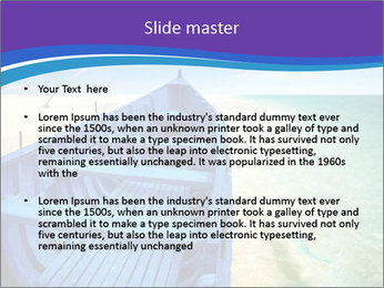 Rural Blue Boat PowerPoint Template - Slide 2