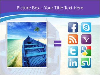 Rural Blue Boat PowerPoint Templates - Slide 21