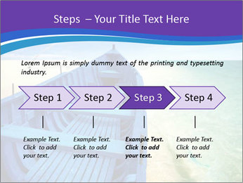 Rural Blue Boat PowerPoint Template - Slide 4