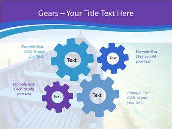 Rural Blue Boat PowerPoint Template - Slide 47
