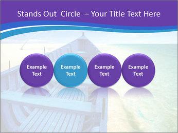 Rural Blue Boat PowerPoint Template - Slide 76