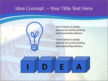 Rural Blue Boat PowerPoint Template - Slide 80