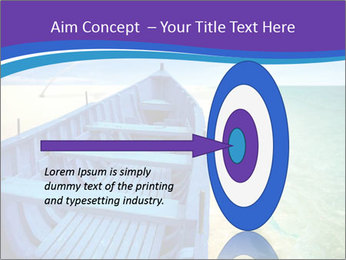 Rural Blue Boat PowerPoint Template - Slide 83