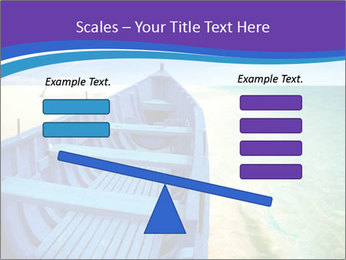 Rural Blue Boat PowerPoint Template - Slide 89