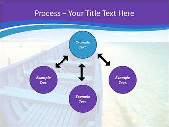 Rural Blue Boat PowerPoint Template - Slide 91