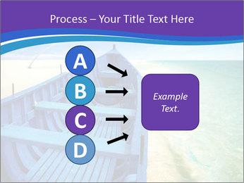 Rural Blue Boat PowerPoint Template - Slide 94