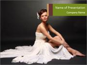 Bride Sitting on the Floor PowerPoint Templates