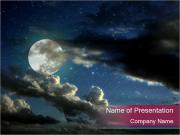 Magic Full Moon PowerPoint Templates