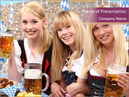 Oktoberfest and Waiters PowerPoint Template