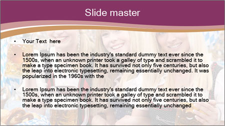 Oktoberfest and Waiters PowerPoint Template - Slide 2