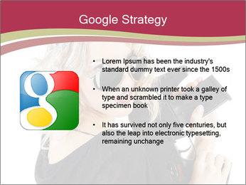 Blond Woman Holding Black Gun PowerPoint Templates - Slide 10